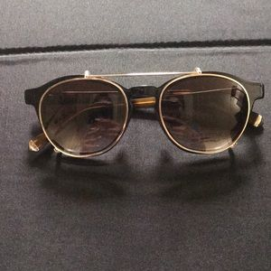 Kate Young clip on glasses MOD K107 BLK